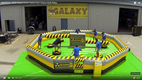 Authentic Galaxy Meltdown game